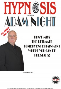 adam night stage hypnotist poster 2015