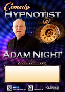 Hypnotist poster, Adam Night