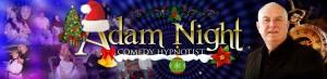 comedy stage hypnotist christmas logo adam night