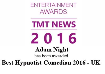 award wining hypnotist 2016